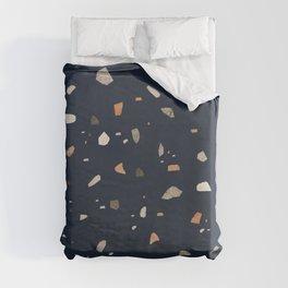 Midnight Navy Terrazzo #1 #decor #art #society6 Duvet Cover