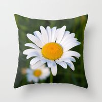 daisies Throw Pillows featuring Daisies by Rose Etiennette