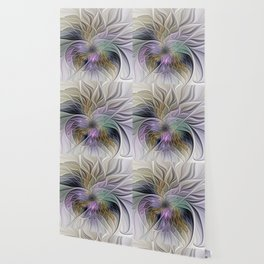 Abstract Flower, Colorful Floral Fractal Art Wallpaper