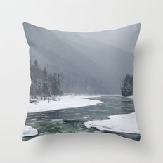 Journée d'hiver Throw Pillow