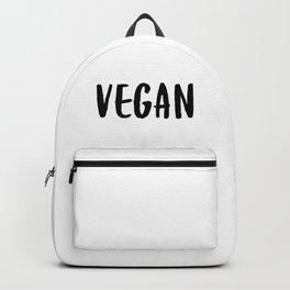Vegan Veggie Lover Vegetarian Plant Powered Veganism No Meat Backpack