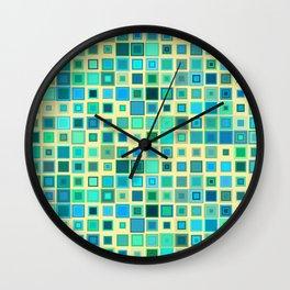 Squares Pattern Wall Clock