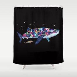 Geomatric Shark Shower Curtain
