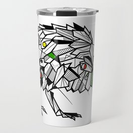 Kiwi Bird Geometric Travel Mug