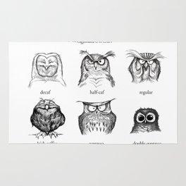 Caffeinated Owls Rug