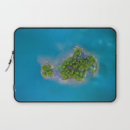 Turquoise Waters with Island Laptop Sleeve