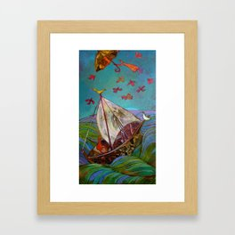 Between Ocean and Sky Framed Art Print