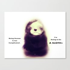 Sloth Canvas Print