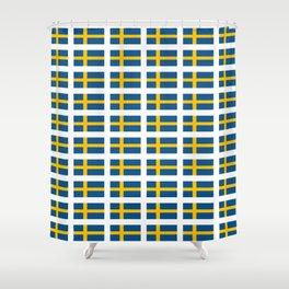 flag of sweden -  Swedish,Sverige,Swede,Stockholm,Scandinavia,viking,bergman, strindberg Shower Curtain