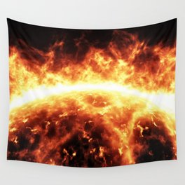 Sun surface with solar flares Wall Tapestry