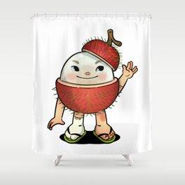Rambutan boy Shower Curtain