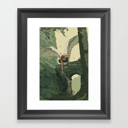 The Angel and Fawn Framed Art Print