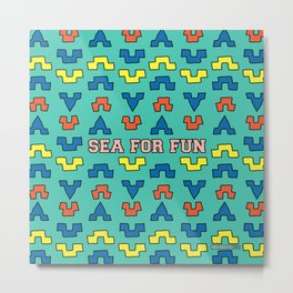 Sea for fun (green) Metal Print