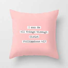 I Can Do All Things Typewriter Throw Pillow