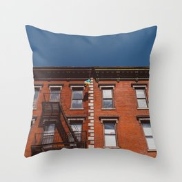 New York Balloons Throw Pillow