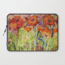 Hustle and bustle of red poppies Laptop Sleeve