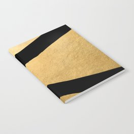 Black and gold abstract geometry (3) Notebook