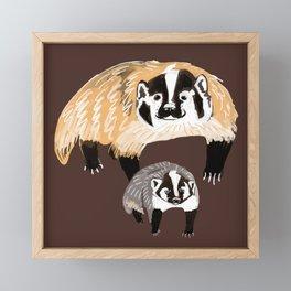 American badger Framed Mini Art Print