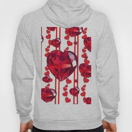 RED VALENTINES & RUBY HEARTS  DESIGN Hoody