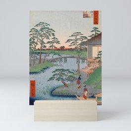 Mokuboji Temple Vintage Ukiyo-e Japanese Art Mini Art Print