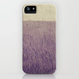Purple field iPhone Case