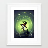 fireflies Framed Art Prints featuring Fireflies by Freeminds