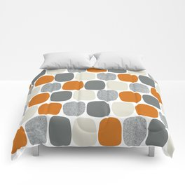 Wonky Ovals in Orange Comforters