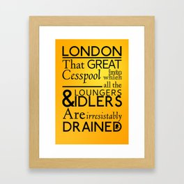 Holmesian London Framed Art Print
