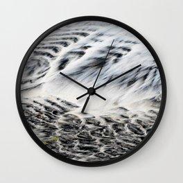 Sculpted Beach Sand Abstract Wall Clock