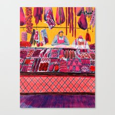 Meat Counter  Canvas Print