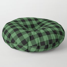 Green Buffalo Plaid  Floor Pillow