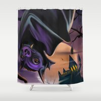 bat Shower Curtains featuring Bat by Brandon Heffron