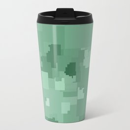 Grayed Jade Square Pixel Color Accent Travel Mug