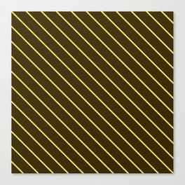 Brown And Yellow Stripes Canvas Print