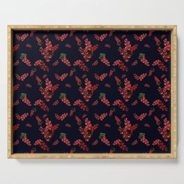 Pattern with red currants Serving Tray