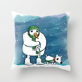 Hurry Up Throw Pillow