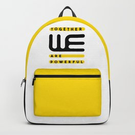 Together we are powerful. Typography design Backpack
