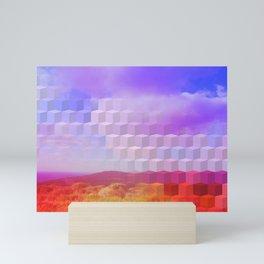 Ultra Surreal Countryside Violet Rainbow Mini Art Print