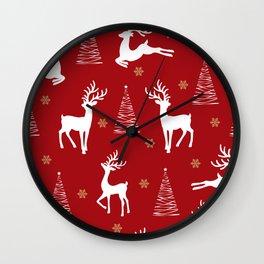 Reindeer Love Wall Clock