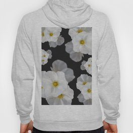 White blossom flower in pattern Hoody