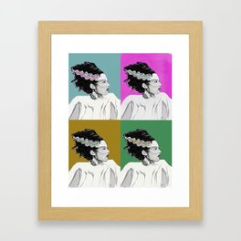 Bride of Frankenstein Color Tile Pop Art Framed Art Print