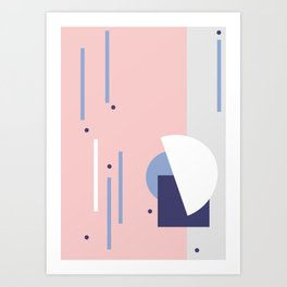 Dots it. º Rose Art Print