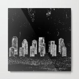 Tombstone Rows Metal Print