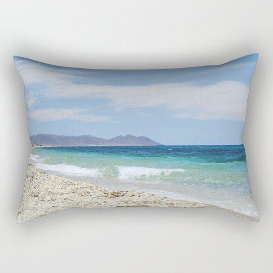 """""""Blue beach. Summer dreams"""" Rectangular Pillow"""
