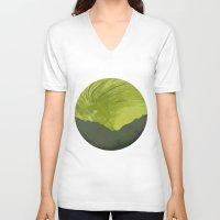 northern lights V-neck T-shirts featuring Northern lights 1 by Richard Seyb