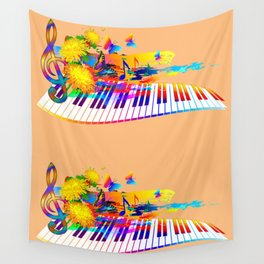 Colorful music instruments design Wall Tapestry