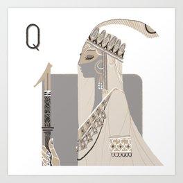 Queen Z. Art Print