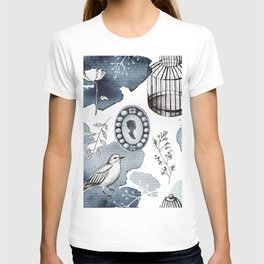 Cute watercolor fairy tales vintage hand drawn illustration pattern T-shirt