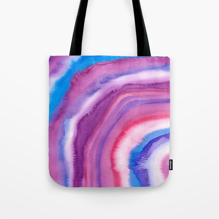 AGATE Inspired Watercolor Abstract 09 Tote Bag