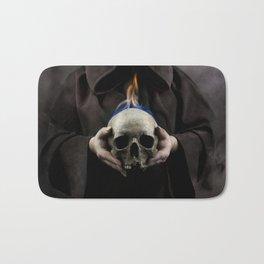 Skull on fire Bath Mat